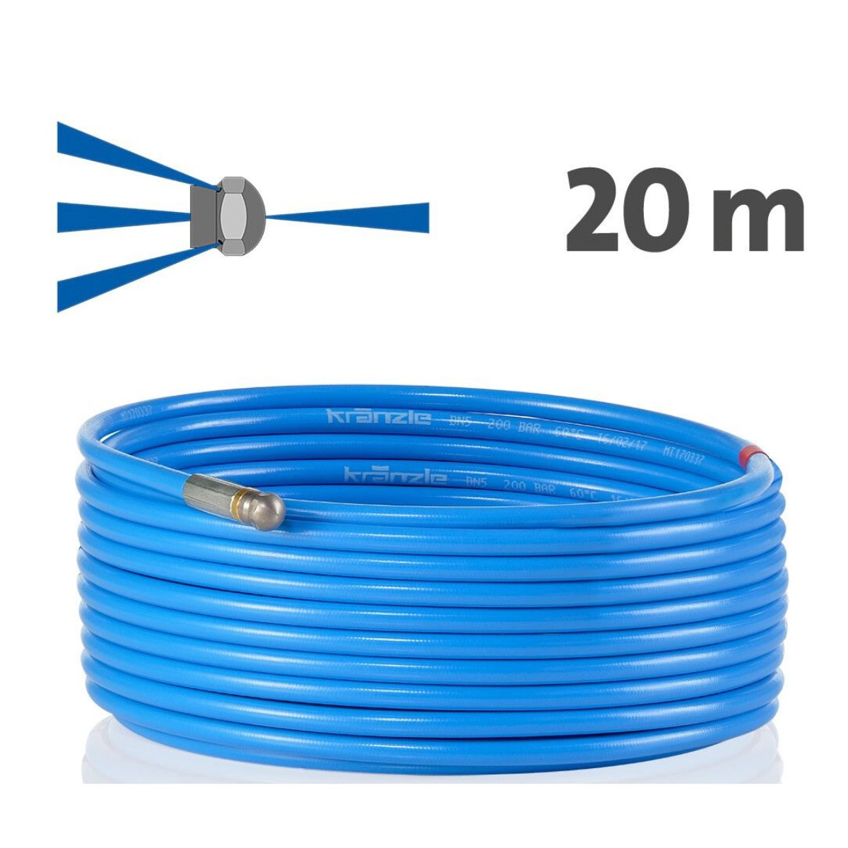 410582-F - Drain Cleaning Hose 20m