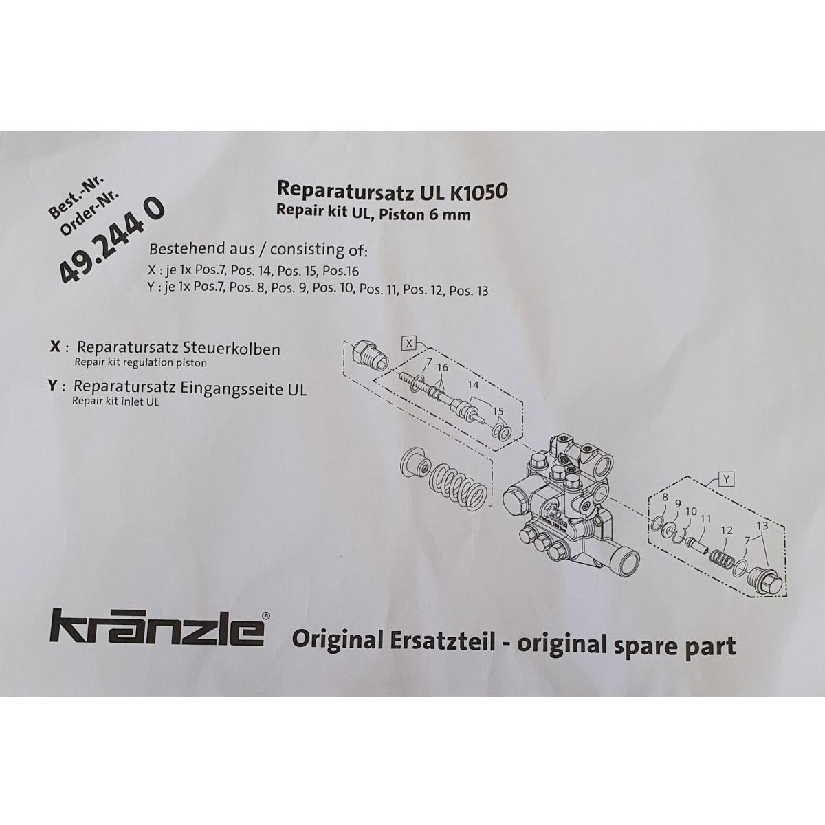 492440  Repair Kit Regulation Piston for K1050