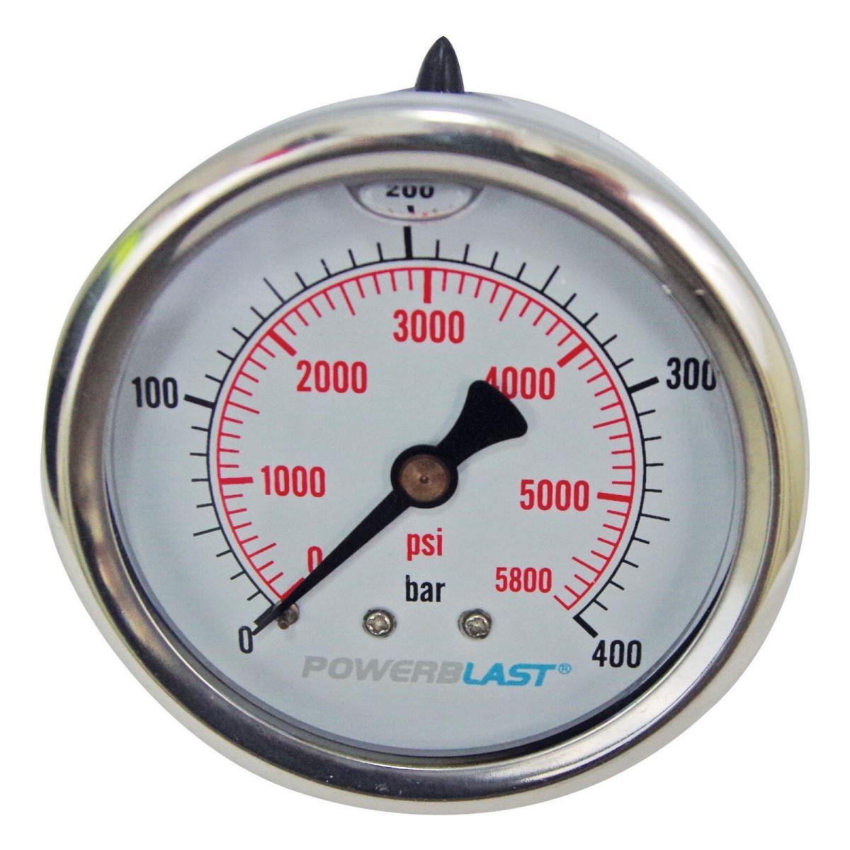 Powerblast Pressure Gauge 5800psi