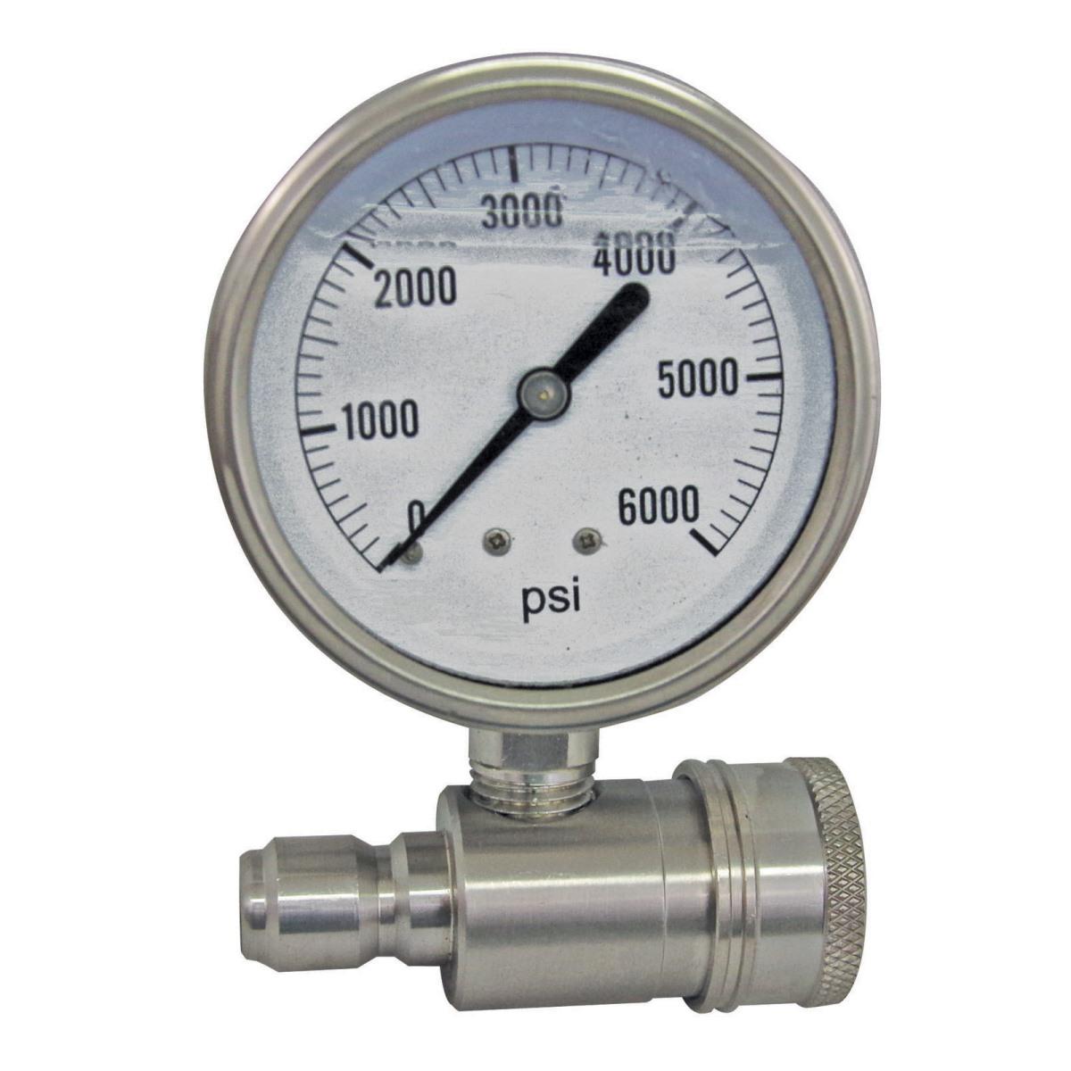 Pressure Gauge 5800psi with Quick Connects