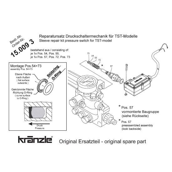 150093 - Repair Kit Pressure Switch