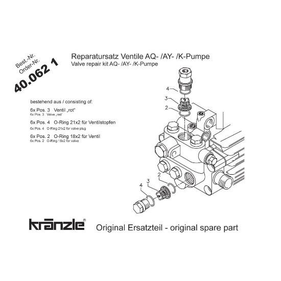 400621 - Repair Kit Valves for AQ Pump