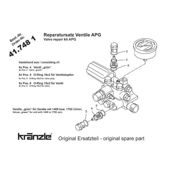 417481 - Repair Kit Valves for APG-AM Pump