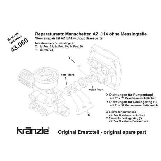 43060 - Repair Kit Valves AZ Pump