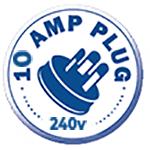 10 AMP Plug 240V
