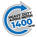 Heavy Duty 4-Pole Motor 1400 RPM