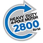 Heavy Duty 4-Pole Motor 2800 RPM