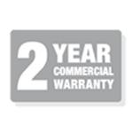 2 Year Commercial Warranty